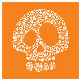 Halloween icons - Skull Stock Photography