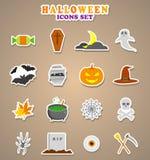 Halloween icons. Stickers Vector Illustration. Halloween icons. Stickers Vector Illustration Stock Photos