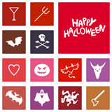 Halloween Icons Royalty Free Stock Photography