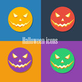 Halloween icons vector illustration Royalty Free Stock Images
