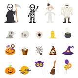 Halloween icons, vector Stock Photos