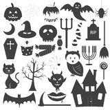Halloween Icons Vector Set Royalty Free Stock Image