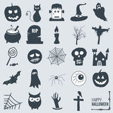 Halloween Icons. Vector set of various halloween icons Royalty Free Stock Photo