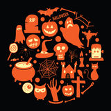 Halloween Icons. Vector set of various halloween icons Royalty Free Stock Image