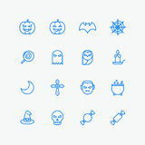 Halloween icons for web and mobile Stock Photos