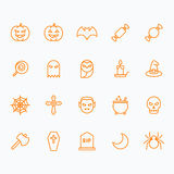 Halloween icons for web and mobile Stock Photo