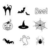 Halloween-Ikone/Ikonenvektor Lizenzfreie Stockfotos