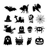 Halloween-Ikone lokalisiert auf weißem Hintergrund Stockbild