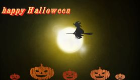 Halloween-Ikone, singen, Illustration 3D Stockbilder