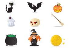 Halloween-Ikonen lizenzfreie abbildung