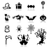 Halloween-Ikonen Lizenzfreie Stockfotos