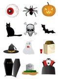 Halloween-Ikonen Lizenzfreie Stockbilder