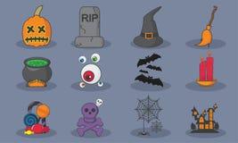 Halloween-Ikonen eingestellt Stockfoto