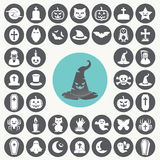Halloween-Ikonen eingestellt stock abbildung