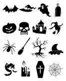 Halloween-Ikonen eingestellt Stockbilder