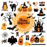 Halloween-Ikonen eingestellt Lizenzfreies Stockbild