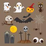 Halloween-Ikonen eingestellt Stockfotos