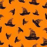 Halloween-Ikonen nahtlos vom Hut Vektor Lizenzfreie Stockfotos