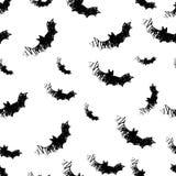 Halloween-Ikonen nahtlos vom Schläger Vektor Lizenzfreie Stockfotografie