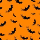 Halloween-Ikonen nahtlos vom Schläger Vektor Lizenzfreie Stockbilder
