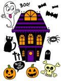 Halloween-Ikonen-Satz stock abbildung