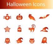 halloween ikony Obrazy Stock