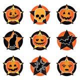 halloween ikony Zdjęcie Stock