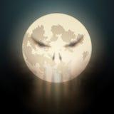 Halloween-illustratie van volle maan met wolken vector illustratie
