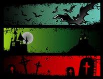 Halloween illustration. Fantasy cartoon halloween illustration composition Royalty Free Stock Images