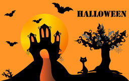 Halloween illustration. Can be used as a card Stock Image