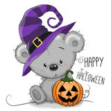 Halloween illustration of Cartoon Bear Royalty Free Stock Photography