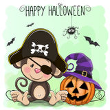 Halloween illustration of Cartoon Monkey Stock Photography