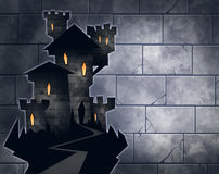 Halloween illustration of a castle Stock Images