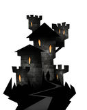 Halloween illustration of a castle Royalty Free Stock Images