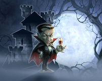 Halloween illustration of a castle Royalty Free Stock Image