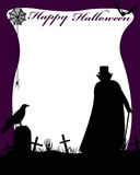 Halloween Illustration With Dracula Royalty Free Stock Photos