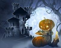 Halloween-Illustration eines Schlosses vektor abbildung