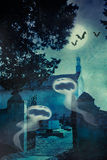 Halloween illustration with evil spirits Royalty Free Stock Photos