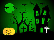 A halloween illustration royalty free stock images