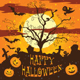 Halloween illustration Graveyard Royalty Free Stock Photography