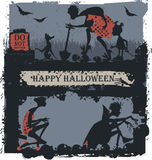 Halloween Illustration. For greeting card, poster and banner Stock Image