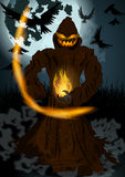 Halloween illustration of Jack O'Lantern Stock Image