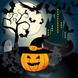 Halloween illustration with Jack O'Lantern Royalty Free Stock Image