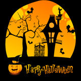 Halloween illustration with Jack O'Lantern Stock Image