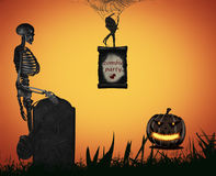 Halloween illustration. Royalty Free Stock Photos