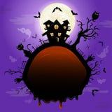 Halloween illustration with pumpkin. Stock Image