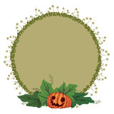 Halloween illustration with pumpkin and toadstools Royalty Free Stock Images