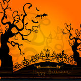Halloween illustration with pumpkins Royalty Free Stock Photography