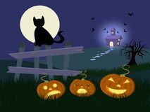 Halloween. Illustration representing the halloween atmosphere Stock Photo