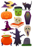 Halloween Illustration Set Stock Image